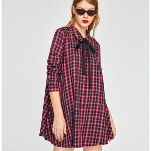 Zara Check Mini Dress